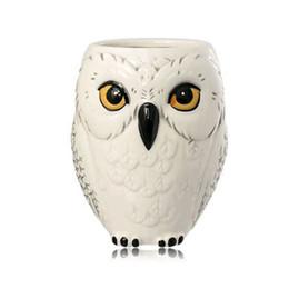 $enCountryForm.capitalKeyWord Australia - 3D White Owl Mug Animal Cups Cartoon Ceramic Mug Coffee Water Milk Cup Home Office Drinkware Gifts Drop shipping