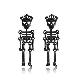 $enCountryForm.capitalKeyWord UK - Hypoallergenic Bone Earrings European And American Fashion Titanium Steel Earrings Stainless Steel Skull Head Tide Male Earrings
