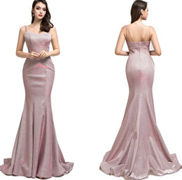 grey satin evening gown Australia - 2019 pink grey Gradient shinning Sparkly Reflective mermaid evening Dresses yousef aljasmi sexy spaghetti arabic evening Formal Gowns 5516