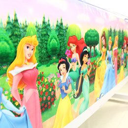 table tablecloths Australia - 108x180cm Cartoon Princess Tablecloth Party For Kids Girls Happy Birthday Decoration Party Supplies Favors Map Table Cover