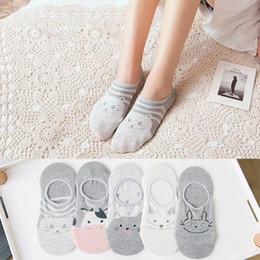 $enCountryForm.capitalKeyWord Australia - Women fashion summer soft cotton socks Cute cow cat fox owl totoro patterned no-show Socks girls Happy animal Socks Dropship