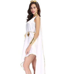 2018 New Explosion Greek Goddess White Goddess Elegant Irregular Skirt  Uniform Suit Export Uniform Suit For Five Pieces