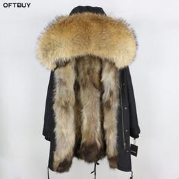 Long Waterproof Parka Australia - 2019 Real Fur Coat Winter Jacket Women Long Parka Waterproof Big Natural Raccoon Fur Collar Hood Thick Warm Real Fox Liner