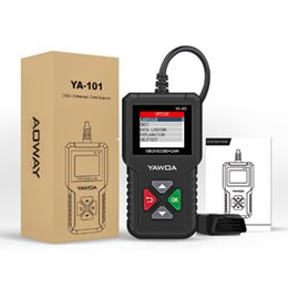 Wholesale japanese tools online for sale – custom YAWOA YA101 OBDII EOBD Code Reader OBD Diagnostic Tool YA Update With USB Free online PK CR3001 ELM327 obdii Diagnostic Tool