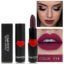 $enCountryForm.capitalKeyWord Australia - 1 Pc Lipstick Matte Waterproof Velvet Lip Stick 10 Colors Sexy Red Brown Pigments Makeup Matte Lipsticks Beauty Lips