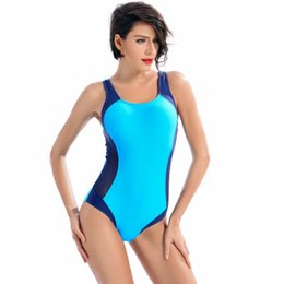 ladies padded swimwear UK - One-piece patchwork bathing suit for ladies off-shoulder push up padded bra backless halter bearwear Swimwear Set D1