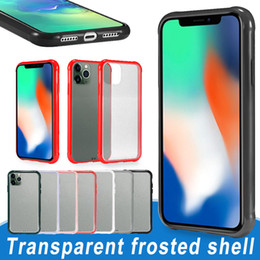 TransparenT plasTic shell online shopping - For iPhone Pro Max Transparent Matte Shockproof TPU Phone Case Hard PC Back Shell Anti scratch Cellphone Protect Covers with Opp Bag