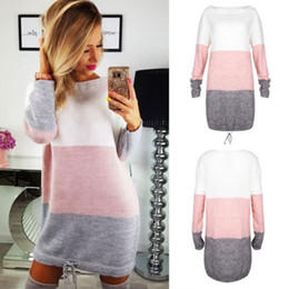 Wholesale ladies hoodie jumpers online – oversize Women Ladies Casual Sweatshirt Long Sleeve Sweater Hoodie Jumper Winter Dress