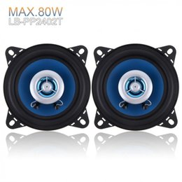 high end speakers NZ - 2pcs 4 Inch 80W 88dB High-End Car Coaxial Speakers 2-Way Car Audio Speakers Coaxial Speaker
