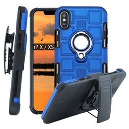 Iphone Case Clip Combo Australia - Robot Kickstand Case 3 in 1 Combo Holster Belt Clip for iPhone 7 Plus 6 7 8 X XS Max XR