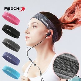 basketball sweatbands Canada - REXCHI Elastic Sweatband Sports Gym Headband Anti-Slip Women Men Breathable Basketball Fitness Yoga Volleyball Cycling Hair Band #18789