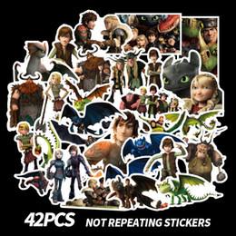 $enCountryForm.capitalKeyWord Australia - 42 PCS How To Train Your Dragon 3 Night Fury Toothless Cartoon Scrapbooking Album Luggage Phone Wall Guitar Stickers