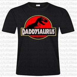 Round top collection online shopping - Fathers Day Collection Daddysaurus Jurassic Park Men s T Shirt Printed Casual Fashion Round Neck Men s Black Short Sleeves Tops T Shirt Size