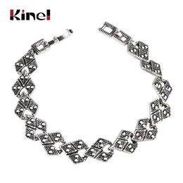 $enCountryForm.capitalKeyWord Australia - Kinel Hot Sale Bohemian Ethnic Gray Crystal Bracelets For Women Charms Antique Silver Color Fashion Vintage Wedding Jewelry