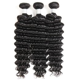 dyeing hair black NZ - 26deep wave100g pc2019The latest black curly hair, female curly hair, false one to ten, absolute human hair, black small curly hair curtain