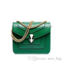 f538fcfc1ce08 Wholesale-Women Famous Brand Small Leather Clutch Crossbody Bags Vintages  Mini Green Chains Snake Skull Flap Messenger Bag Bolsas