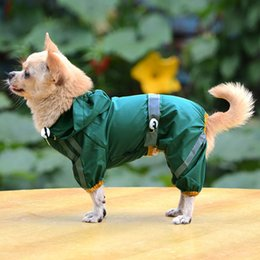 pet stores UK - Puppy Pet Dog Cool Raincoat Glisten Bar Hoody Waterproof Rain Lovely Jackets Coat Apparel Clothes Store