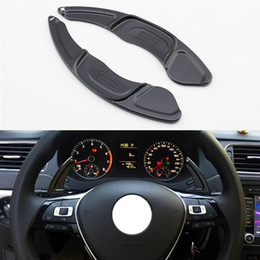 $enCountryForm.capitalKeyWord Australia - Car Lever Steering Wheel Gear Shift Paddle Shifter Extention Accessories Fit For Volkswagen Golf7 R GTI R-Line Scirocco Polo GTI 2015-2018