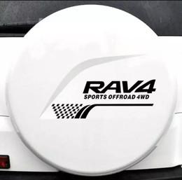 $enCountryForm.capitalKeyWord Australia - 1PCS 58*21CM SPORTS OFFROAD 4WD Car Tail Spare Wheel Decorational For Toyota RAV4 SUV Car Stickers Black Silver CA-1055