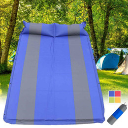 $enCountryForm.capitalKeyWord NZ - Outdoor Inflatable Camping Mat with Pillow Self-Inflating Tent Mat Joinable Sleeping Pad Double 2 Person Cushion Bed Mattress