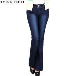 b8590176f0 Plus Size Bell Bottom Trousers Australia - Mind Feet Women Jeans Slim Plus  Size Female Stretch