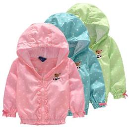Girls Windbreaker Jackets Australia - Children Jacket Coat For Girls Double-deck Waterproof Windbreaker Polka Dot Baby Girls Outerwear Coats 2-8 Years Kids Clothes