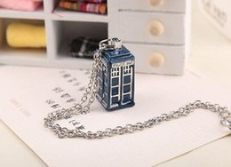 Tardis Pendant Australia - New BBC Television Doctor Who Tardis Police Box Vintage Blue Chain Necklaces Pendants Men Women Jewellery Gifts Free Shipping