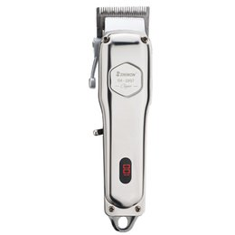 Wholesale AL-barber salon all metal Cordless trimmer machine Stylists adjustable cutter Barbers salon Professional hair barbing clippers