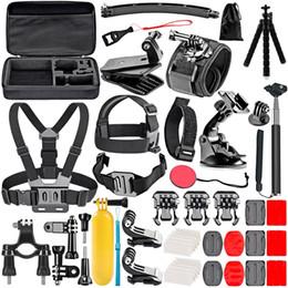 Gopro sjcam kit online shopping - 50 In Action Camera Accessory Kit for GoPro Hero SJCAM Xiaomi Yi action camera