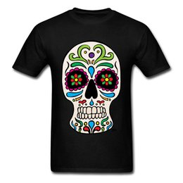 3d flower tee Australia - Qatar Sugar Skull Classic Tops T Shirt Summer New Coming Men's T Shirts Father Day Tops T-shirt O Neck 3d Flower Skull Pp Tees