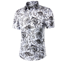 $enCountryForm.capitalKeyWord Australia - New Arrival 2018 Fashion Mens Short Sleeve Hawaiian Shirt 10 Colors Summer Casual Clothes Floral Shirts For Men Asian Size