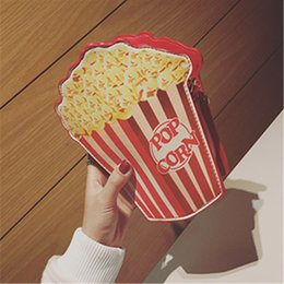 $enCountryForm.capitalKeyWord NZ - Creative Style Woman Hamburger Ice Cream shoulder bags Cupcake PU Chains bags Cute Hamburger Popcorn Fries 3D Messenger Bags