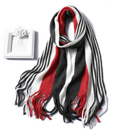 $enCountryForm.capitalKeyWord Australia - New Women Scarf Fashion Knit Winter Cashmere Imitation Scarves Lady Shawls Soft Long Size Scarfs Striped Foulard Bandana