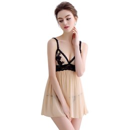 2d8ef3b5c7 sexy lingerie set Chemise babydoll braces skirt lace sleepwear slip dress  nightdress perspective teddy hot style see through