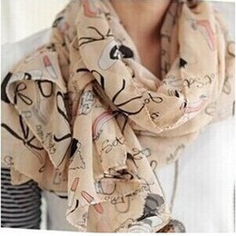 Dotted Cotton Scarves Australia - 1pc Lovely Fashion Women Soft Cotton Lady Comfortable Long Neck Large Scarf Shawl Voile Stole Dot Warm Scarves Gift Hot
