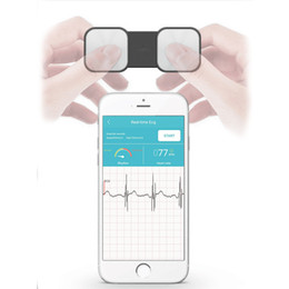 Wholesale portable ECG Heart Monitor for Heart Performance Without Electrode Home Wireles EKG tracker Monitoring ios and Android