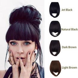 Clip en flequillo de pelo 100% cabello humano para mujeres naturales rectas delanteras Neat Fringe pieza de cabello en venta