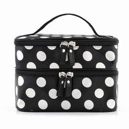 $enCountryForm.capitalKeyWord Australia - VSEN Hot StyleBlack Polka Dots Travel Cosmetics MakeUp Bags Beauty Organiser Toiletry Purse