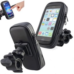 waterproof iphone mount for motorcycle 2019 - Waterproof Motorcycle Bicycle Bike Motorcycle Handlebar Phone With Handlebar Mount Holder Case Bag For Samsung For Huawe