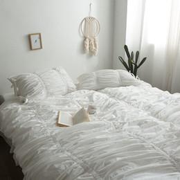 $enCountryForm.capitalKeyWord Australia - White Rose Red Wine Red 100% Cotton Korean Princess Girl Bedding Set Duvet Cover Bed sheet Bed Linen Pillowcases Queen King 4pcs