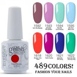 $enCountryForm.capitalKeyWord UK - Free shipping 12pcs lot 100% Brand New Harmony Gelish Nail Polish Soak Off UV Gel polish 489 Fashion Colors