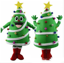 tree costumes Australia - High quality Christmas Tree mascot costume with big yellow star and colorful balls newest holiday carnival