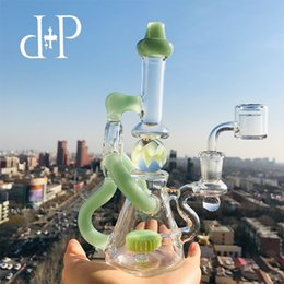 Wholesale PlusPlus glass Bong Water Pipe M Rotatable Marble Ball unique Mint heady art pipe Showerhead percolator quot Height mm Female