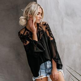 Ingrosso 2019 New Wome V collo ricamo floreale Top Fashion Ladies Estate camicetta casual sciolto camicie