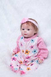 Toys For China NZ - New soft body silicone reborn baby dolls girls 22 toy realistic 55 cm toddler vinyl toys for children Christmas new Year's present