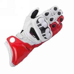 $enCountryForm.capitalKeyWord UK - 2018 New 8 Colors 100% Genuine Leather GP PRO Motorcycle Long Gloves Racing Driving GP PRO Motorbike Original Cowhide Gloves