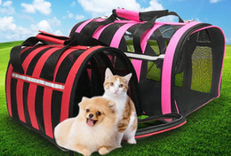 Blue Dog Carriers Australia - Hot Sell Dog Carrier Bags For Small Dogs Pets Carrying Bags Dog Backpack airline aproved Carriers Crate