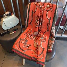 Tie dye blankeT online shopping - 2019 Winter Carriage Warm Thicken Scarf Women Luxury Brand Big Pashmina Cashmere Poncho Blanket Wrap Wool Bandana Hijab Shawl