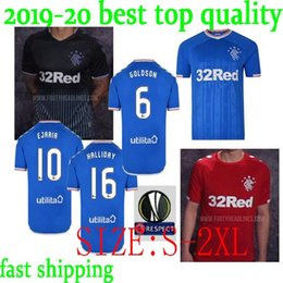 Best Uniforms Australia - best quality 2019 2020 Rangers FC Home Blue TAVERNIER Soccer Jerseys 19 20 Glasgow Rangers Away red MURPHY Football Shirt Uniform