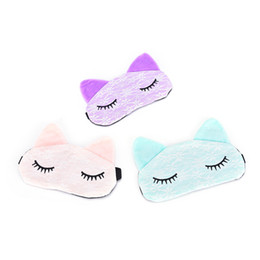 China Cartoon Lace Eyeshade Sleeping Mask CoveVision Carer Microfiber Eye Eyepatch Blindfolds To Shield The Light Cute Cat Eye Mask Cover suppliers